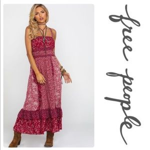 NWT Free People Yesica Maxi Dress  Red Size:6